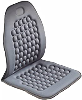 Amazon com: Black/Gray Leather Truck Seat Covers for