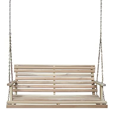 International Concepts Porch Swing with Chain, Unfinished