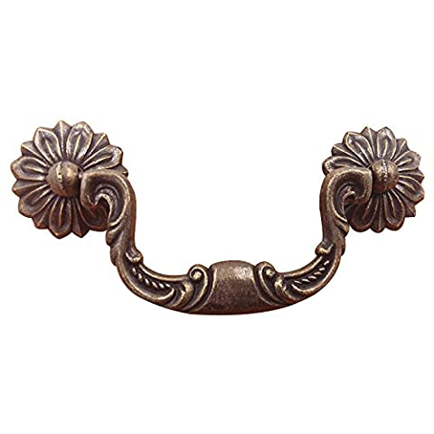 Zehui European Style Handle Antique Bronze Cabinet Knob Vintage Drawer Dresser Jewelry Case Pull Handle (Great Lengths Anti Tap)