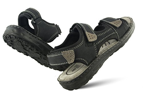 Sandali Zerimar da Uomo da Uomo da Trekking da Navy Estivi Hiking Sandali Uomo Blu Sandals Sandali Sandali da Cuoio di Man scuro Uomo HqHwY5anrx