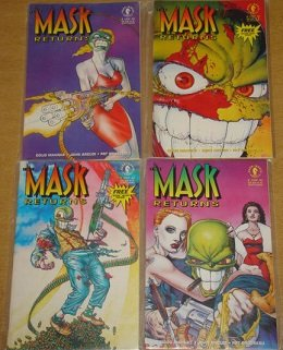 The Mask Returns (1992) Dark Horse Comics / Rare Complete Set 1 - 4 WITH MASKS!! (Horse Mask Price)