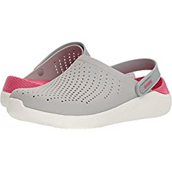 Crocs Unisex LiteRide Clog, pearl white/white, 7 US Men/ 9 US Women M US