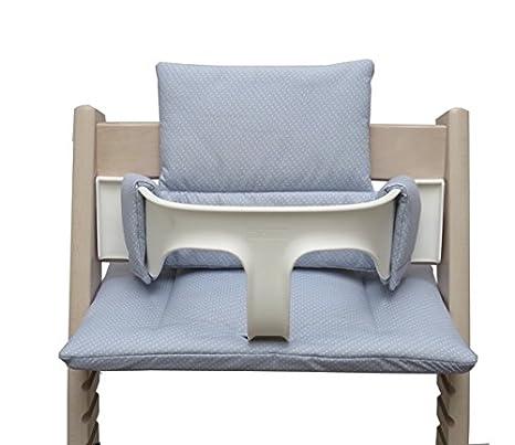 Blausberg Baby Sitzkissen Kissen Polster Set f/ür Stokke Tripp Trapp Hochstuhl Einheitsgr/ö/ße Blau P/ünktchen