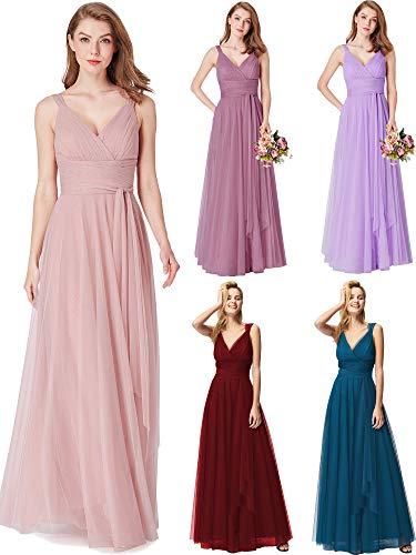 Ever-Pretty Women Feminine Vneck Sleeveless Bridesmaid Dresses 8US Blush