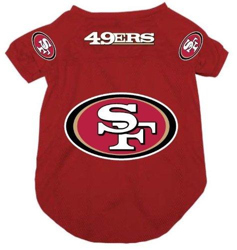 San Francisco 49ers Pet Dog Football Jersey Alternate XL