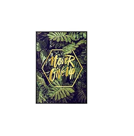 YuHan Wei Nordic Planta Verde Grandes Leafcanvas Pintura ...