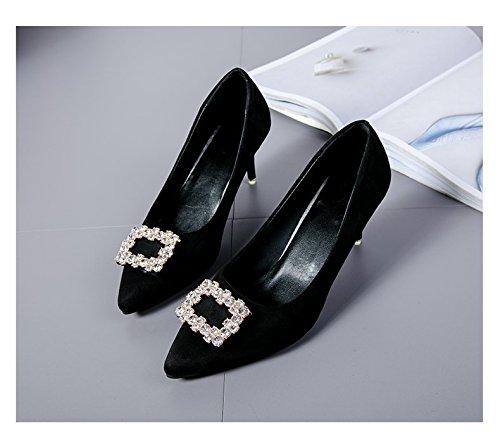 De 37 Talon Aiguille Et Chaussures Noir Les Clibataires Femmes Pour Confortables 5SqwPZv