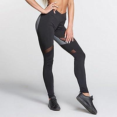 FH. Yoga Pants, Women's Power Flex Yoga Pants Tummy Control Workout Yoga Capris Pants Leggings
