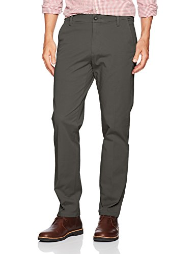 (Dockers Men's Slim Tapered Fit Workday Khaki Smart 360 Flex Pants, Storm (Stretch), 34W x)