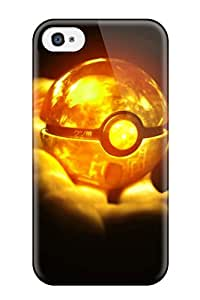 Fashion Case Cover For Iphone 4/4s Orange Pokeball