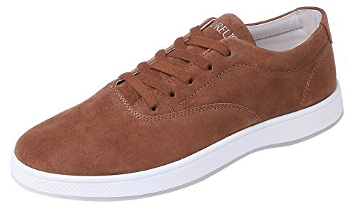 Aureus Men's Attica Chestnut Brown Nubuck Leather Low Top Shoe Size 11 M US (Chestnut Smooth Footwear)