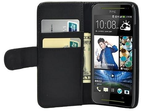 Membrane - Negro Cartera Funda Carcasa para HTC Desire 601 (HTC Zara): Amazon.es: Electrónica