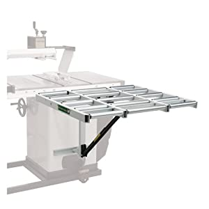 """Table Saw Extension HTC HOR-1038 – 37"""" Outfeed Roller Support Table for Table Saws. Supports Panels Up To 8 Feet in Length, Making One-Person Table Saw Operation Easy."""