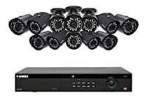 Lorex 2K IP Security camera system with 16 Channel NVR and 12 outdoor 2K 4MP IP cameras , color night vision