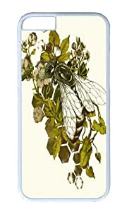 Apple Iphone 6 Case,WENJORS Adorable Honeybee Hard Case Protective Shell Cell Phone Cover For Apple Iphone 6 (4.7 Inch) - PC White by icecream design
