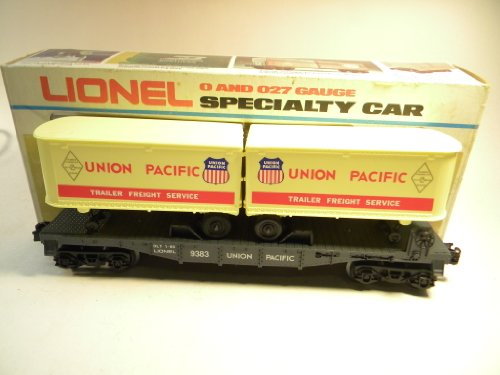 Lionel 9383 Union Pacific Flat Car with Piggyback Trailers O Gauge (Car Union Pacific Flat)