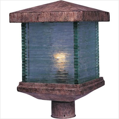 Maxim Lighting 48735CLET, Triumph VX 1 Light Outdoor Pole/Post Lantern, Earth Tone