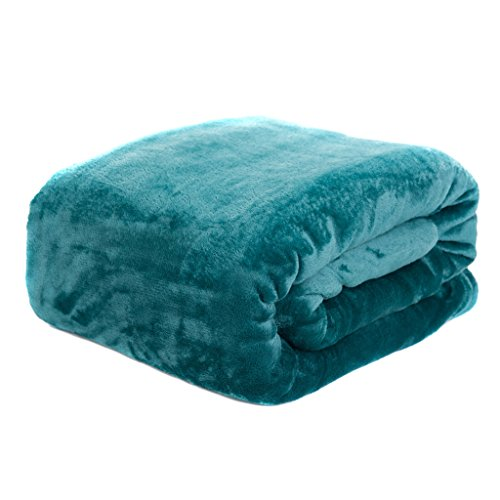 HYSEAS Velvet Plush Throw, Home Fleece Throw Blanket, 50