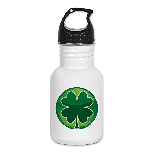 Kid's Water Bottle Shamrock Four Leaf Clover - Clover Ends Cross