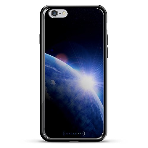Series Rise 1 - Luxendary Earth Sunrise From Space Design Chrome Series Case for iPhone 6/6S - Titanium Black