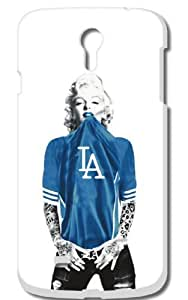 Marilyn Monroe Los Angeles Dodgers Hard Case For Samsung Galaxy IV S4