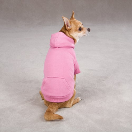 Zack & Zoey Polyester Fleece Lined Dog Hoodie, Small, Pink