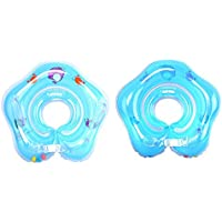 0-3 Years Baby Swimming Ring Neck Tube Ring Safety Infant Neck Float Circle for Baby Swimming Pool Bathing Inflatable…