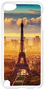 Eiffel Tower in the Daylight - Case for the Apple Ipod 5th Generation-Hard White Plastic