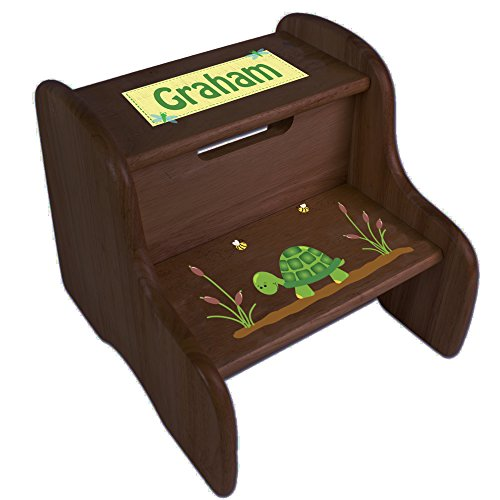 Personalized Turtle Espresso Two Step Stool