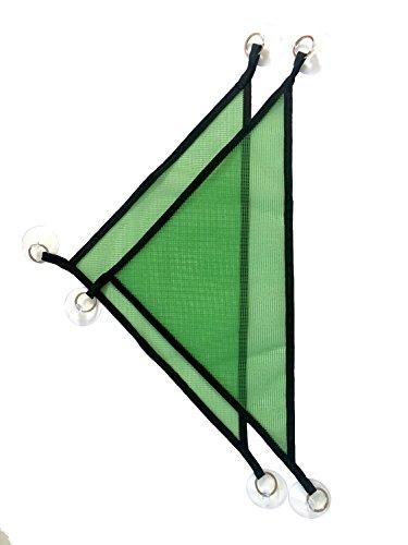 Mesh Reptile Hammock for Bearded Dragon Lizard ,19-Inch (2 Packs) (Green, Triangular shape) by OutyFly