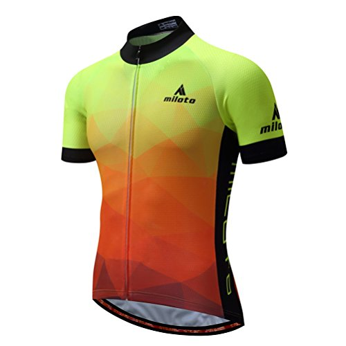 Uriah Men's Cycling Jersey Short Sleeve Reflective Fluorescence Yellow Size - Cycling Summer Jersey