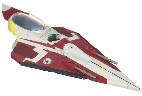 Star Wars Clone Wars Star fighter Vehicle - Obi Wan's Jedi Starfighter