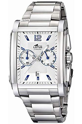Lotus Chronograph Mens Analog Quartz Watch with Stainless Steel Bracelet 15834/7