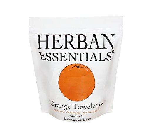 Herban Essentials Towelettes Orange 20 Count