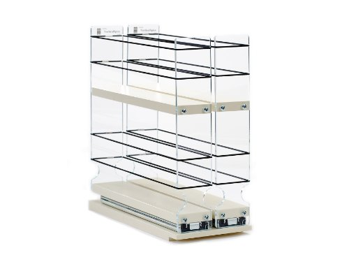 Vertical Spice - 22x2x11 DC - Spice Rack - Narrow Space w/2 Drawers each with 2 Shelves - 24 Spice Capacity - Easy to Install
