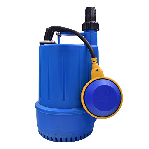 SONGJOY Submersible Utility Pump 1/6 HP Clean Dirty Sump Pump with Float Switch for Swimming Pool Pond Basement Drainage Garden Irrigation Transfer by SONGJOY