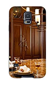 NypEzzu6810iBSap CaseyKBrown Awesome Case Cover Compatible With Galaxy S5 - Elegant Kitchen With Large Island