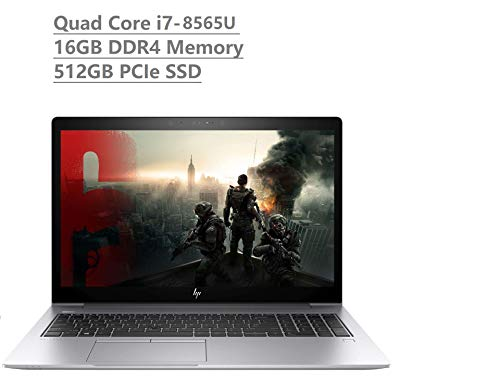 "2019 HP Elitebook 850 G6 15.6"" Full HD FHD Business Laptop (Intel Quad-Core i7-8565U, 16GB DDR4, 512GB PCIe NVMe M.2 SSD) Fingerprint, Backlit, Thunderbolt, B&O Audio, HDMI, NFC, Windows 10 Pro"