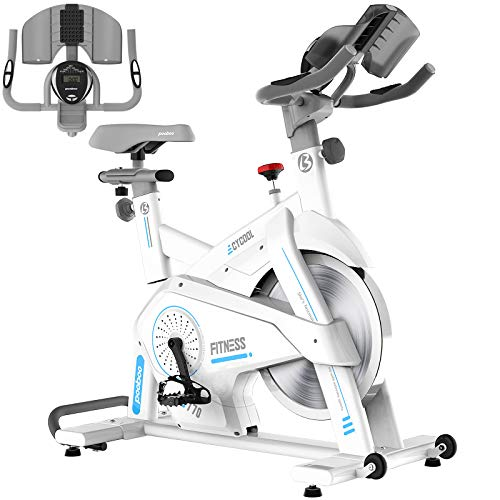 Afully Indoor Cycling Bike, Exercise Bikes Magnetic Resistance Stationary Bike, Belt Drive Indoor Bike with Pad/Phone…