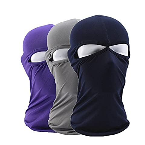 Balaclava 3 PCs, Motorcycle Mask - iParaAiluRy Elastic Outdoor Tactical Windproof Dustproof Lycra Face Mask Bretheable Cold Weather Ski Mask Neck (Horse Tooth Necklace)