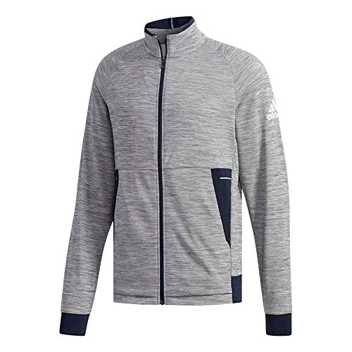 adidas-Men`s Knit Tennis Jacket Grey Six-(191524873710)