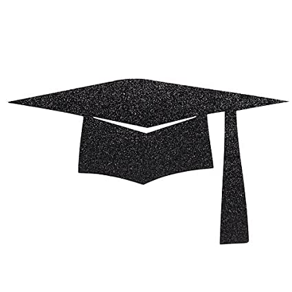 Amazon Com Glitter Graduation Cap Cutouts Kitchen Dining
