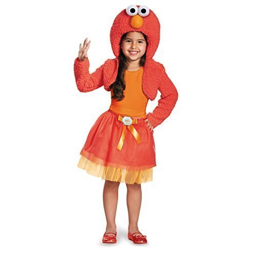 Disguise 76895M Elmo Shrug And Tutu Child Kit Costume, Medium (3T-4T)