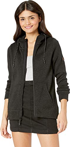 Billabong Women's Boundary Zip-Up Fleece Top Black Heather Medium ()