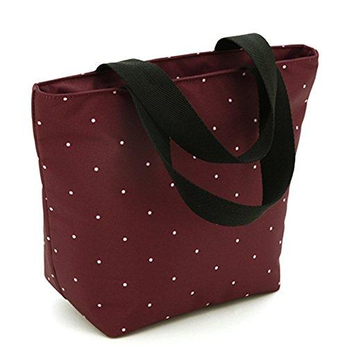 Las mujeres embarazadas salen bolso, bolso de la momia, salen el bolso, bolso de la madre, bolso multiusos del bebé del hombro, pequeño bolso de la momia ( Color : Khaki ) Rojo oscuro