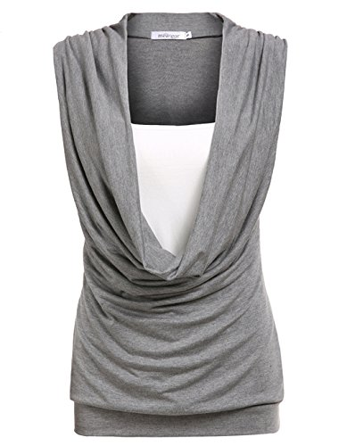 OURS Contrast Sleeveless Stretch T Shirt