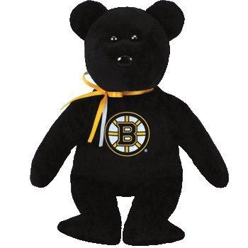 ty Boston Bruins NHL Beanie Baby Teddy Bear Plush 8.5