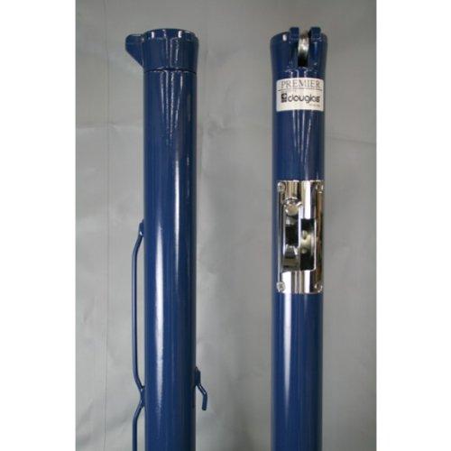 Douglas Premier XS Open Blue Internal Wind Tennis Posts w/ Plated Gears