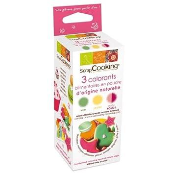 Kit de colorantes alimentarios rojo / verde / amarillo: Amazon.es ...