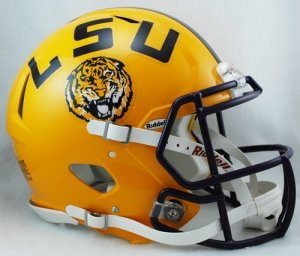 (NCAA Riddell LSU Tigers Speed Full-Size Authentic Helmet)